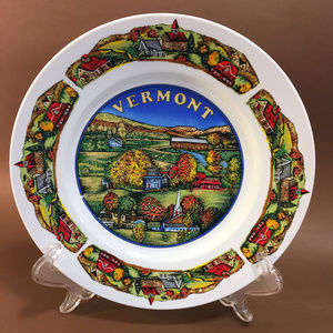 Vermont Souvenir Plate / Old Americana village